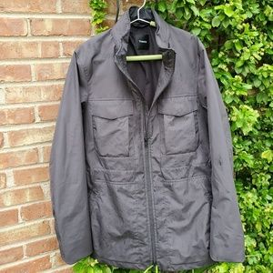 Theory mens gray parka lightweight jacket S